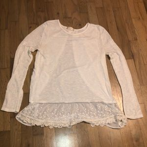 White cotton and lace top sz m Altar'd state